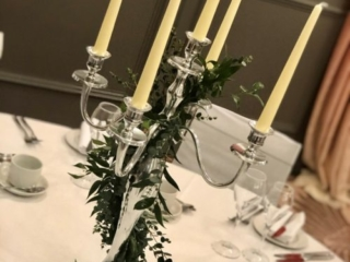 Table centrepiece at wedding