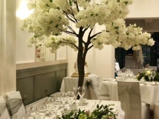Wedding decor at the Bedford Swan Hotel