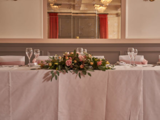 The top table in The Coach Room at the Bedford Swan Hotel