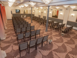The Coach Room at the Bedford Swan Hotel laid out for wedding ceremony